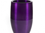 Bubba Brushed Aluminum Planter (Purple)