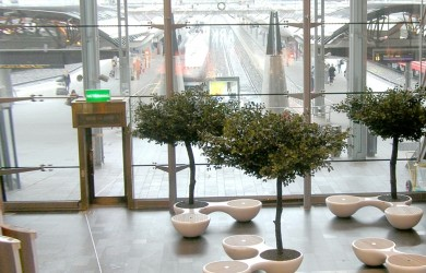 Artificial tree and planter installation Oslo